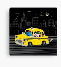 Taxi Ride Canvas Print