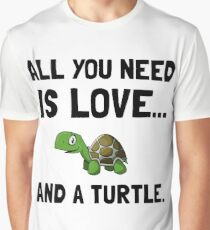Love And A Turtle Graphic T-Shirt