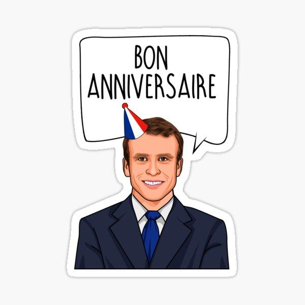 Emmanuel Macron Bon Anniversaire Sticker
