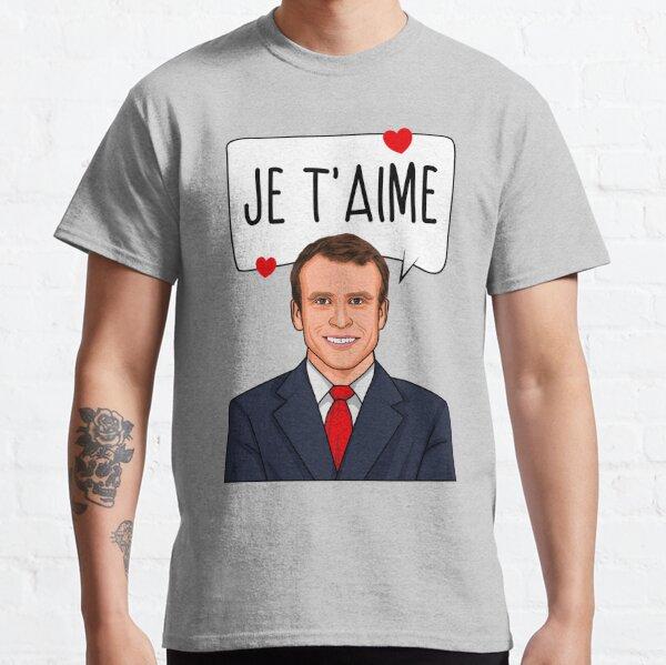 Emmanuel Macron Je T'aime T-shirt classique