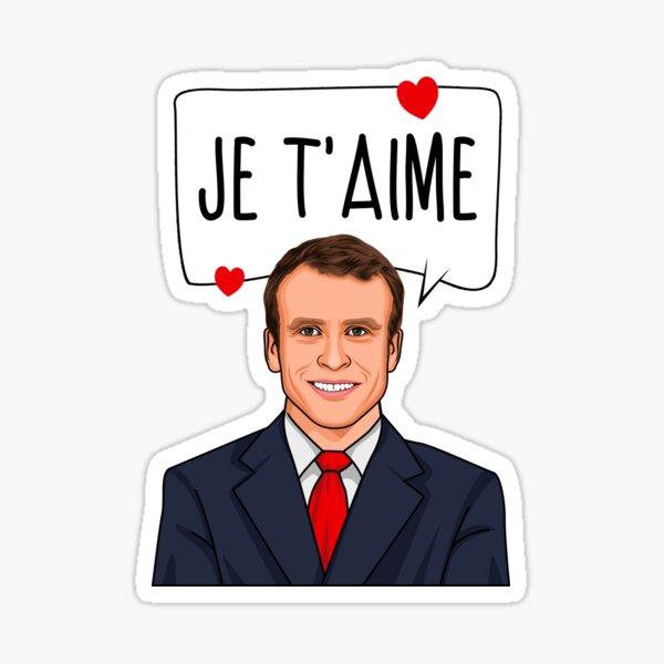 Emmanuel Macron Je T'aime Sticker