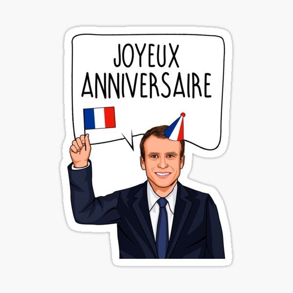 Emmanuel Macron Joyeux Anniversaire Sticker