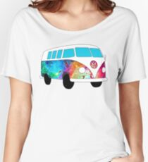 VW Rainbow Hippie Bus! Women's Relaxed Fit T-Shirt