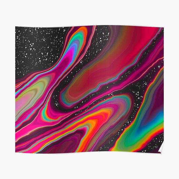 RGB Spaceship - Vibrant Trippy Design Poster