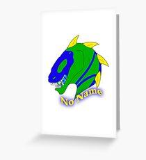No Name Badge Greeting Card