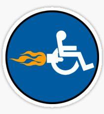 Sign Rocket Wheelchair Sticker