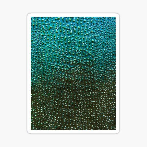 Ombré Teal Bumpy Pattern Macro Sticker