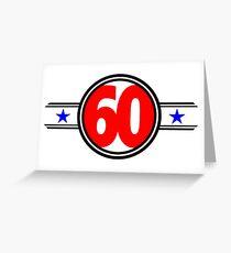 Sixty Stars Greeting Card