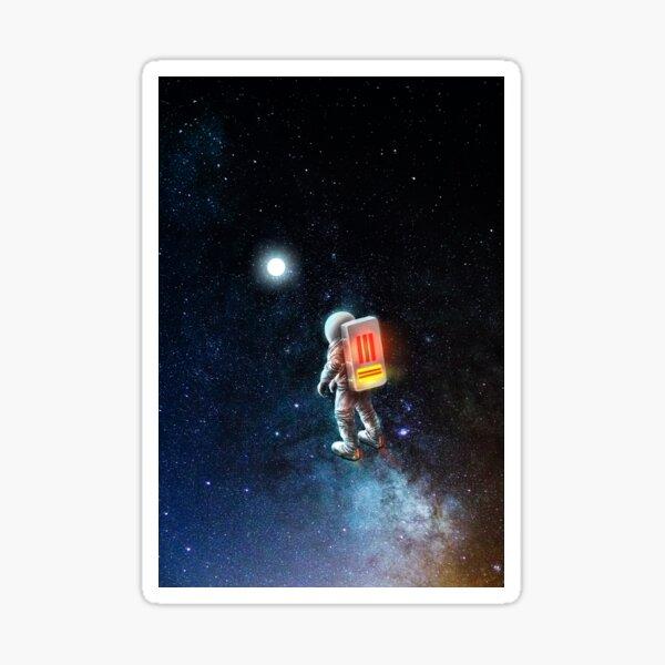 astronaut Carl Sticker