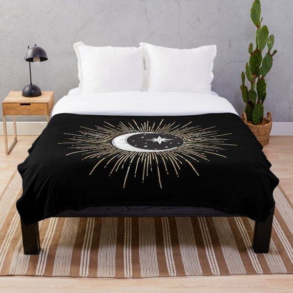 Darklina Moon Throw Blanket