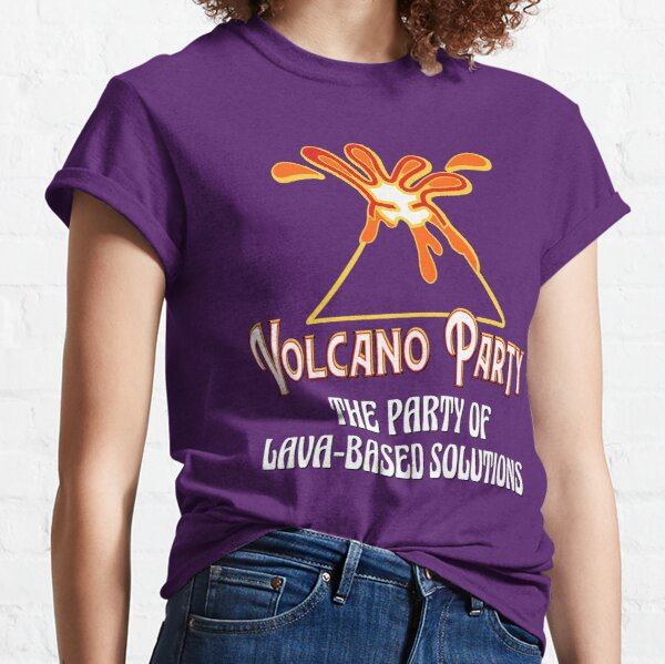 Volcano Party for dark tee Classic T-Shirt