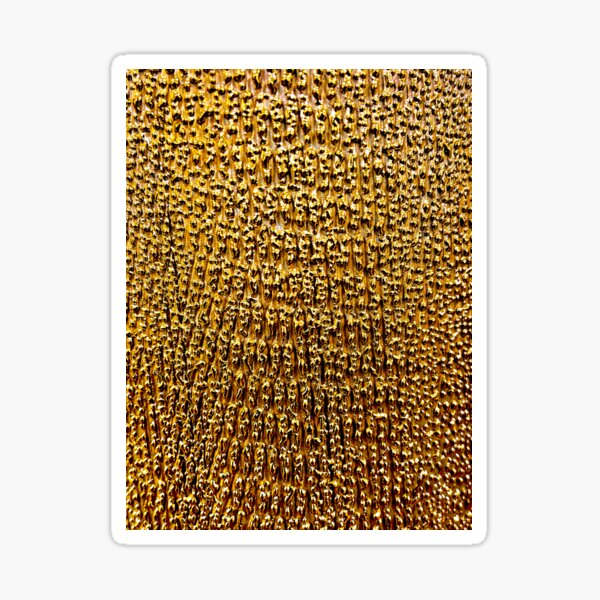 Gold Ombre Textured Pattern Sticker