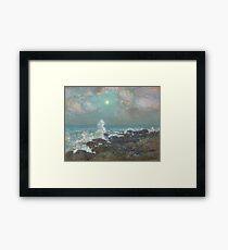Vintage famous art - Childe Hassam - Seascape-Isle Of Shoals Framed Print