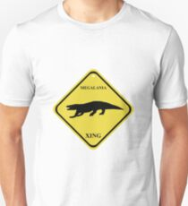 Megalania Crossing Sign T-Shirt
