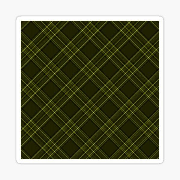 Bright Yellow and Black Tartan Check Plaid Sticker