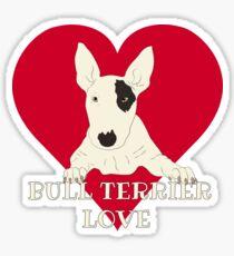 Bull Terrier Love Sticker