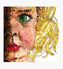 mosaic girl Photographic Print