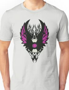 Vinyl Record Retro Punk Spikes Tribal with Wings - Purple Design T-Shirt