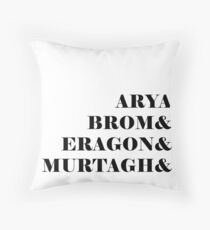 Eragon names Throw Pillow