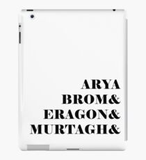 Eragon names iPad Case/Skin