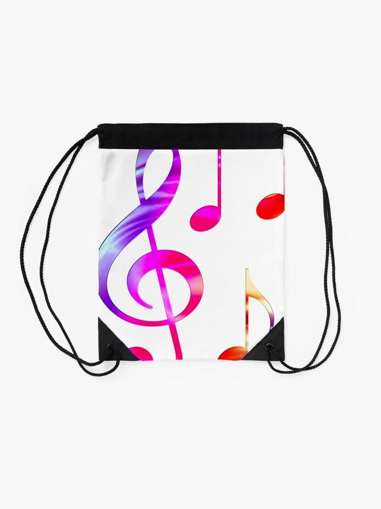 Alternate view of Music Drawstring Bag