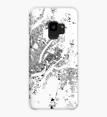 Copenhagen Map Schwarzplan Only Buildings Case/Skin for Samsung Galaxy