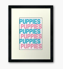 Puppies Overload Framed Print