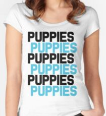 Puppies Overload Women's Fitted Scoop T-Shirt