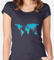 Pandemia Boardgames Women's Fitted Scoop T-Shirt