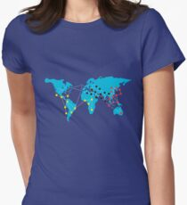 Pandemia Boardgames Women's Fitted T-Shirt
