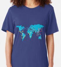 Pandemia Boardgames Slim Fit T-Shirt