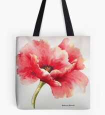 Big Red Poppy Tote Bag