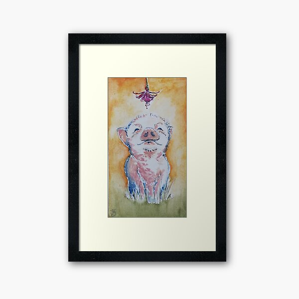 Piglet In Sunshine Framed Art Print