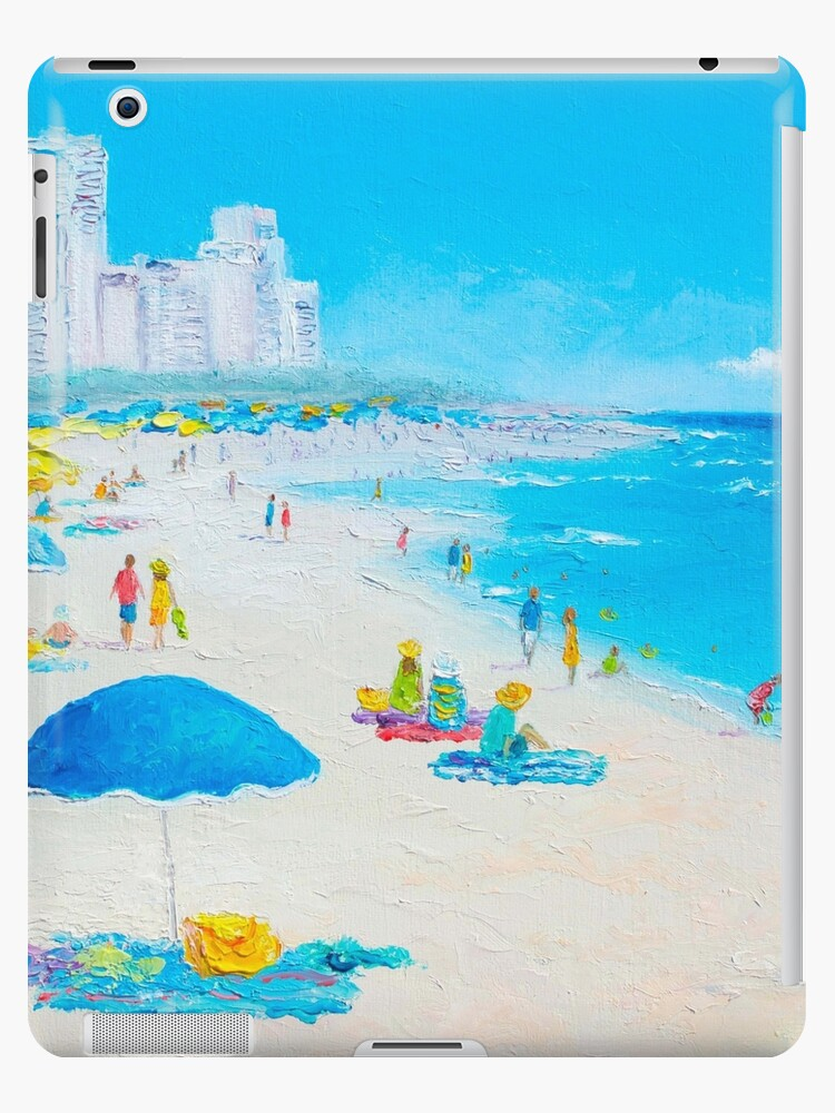 Funda Y Vinilo Para Ipad Pintura De Playa Sombrillas De Miami Beach De Matsonartdesign Redbubble
