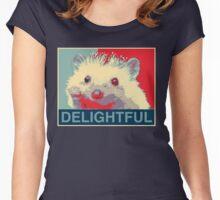 Delightful Hedgehog Women's Fitted Scoop T-Shirt