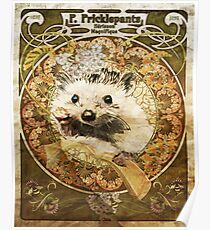 Art Nouveau Hedgehog Poster