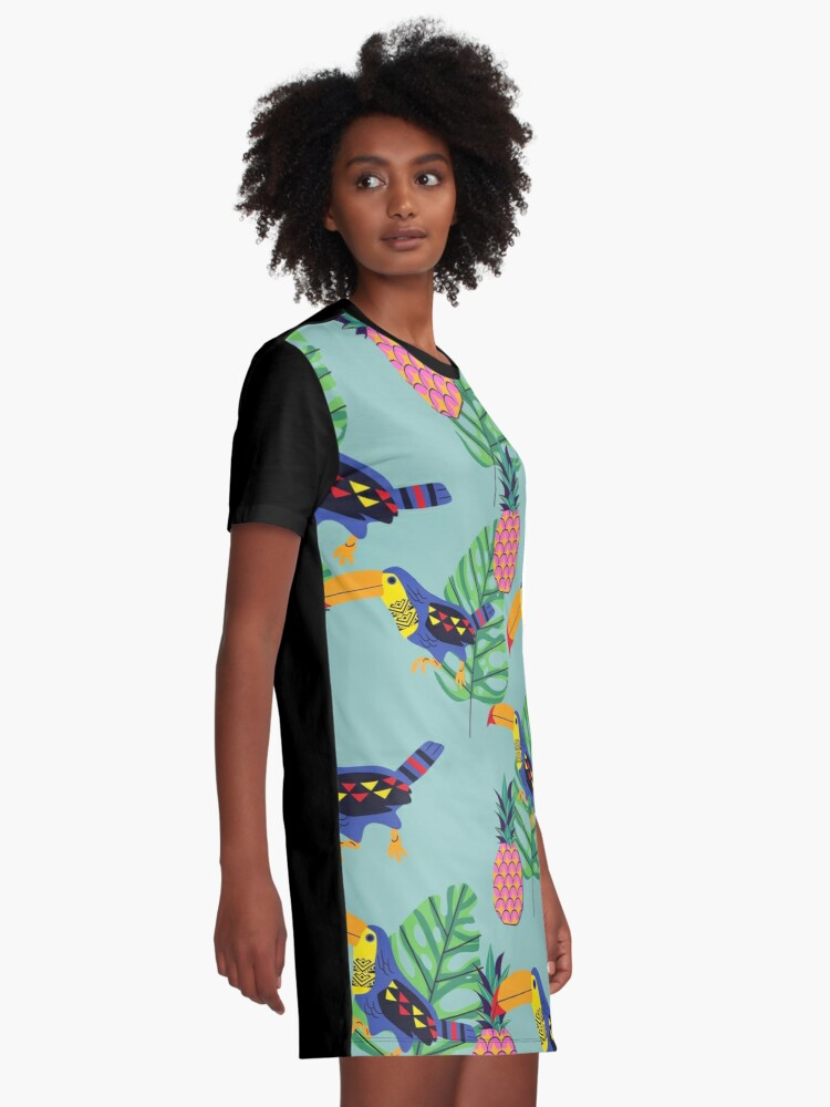 Alternate view of Toucan Vibes  Graphic T-Shirt Dress