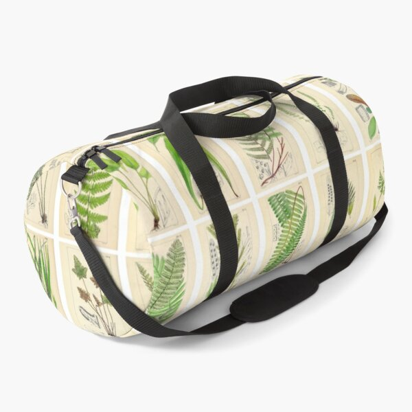 Ferns, Old Historic Botanical Drawings in a Poster (Landscape) Duffle Bag