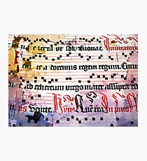 Choral Book Middle Ages - Music Vintage Photographic Print