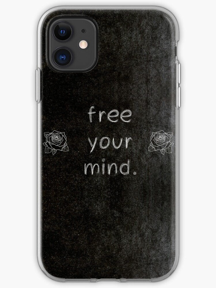 \'Free Your Mind 3 Word Quotes\' iPhone Case by royston69