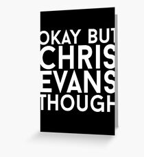 Chris Evans - White Text Greeting Card