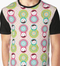 Pink Polka Dot Russians Graphic T-Shirt