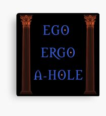 Ego Ergo A-Hole Canvas Print