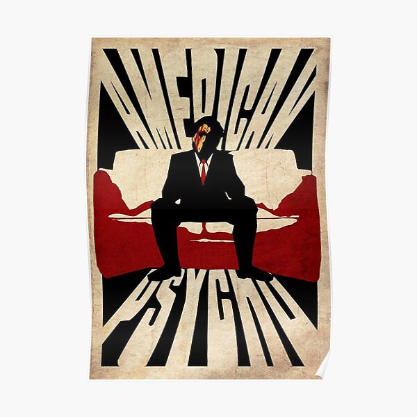 Blood American Psycho Poster