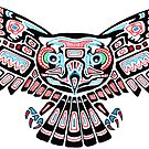 Mystic Owl in Native American Style art by Cleave
