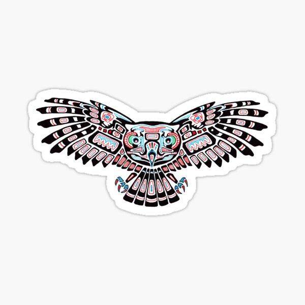 Mystic Owl in Native American Style art Sticker