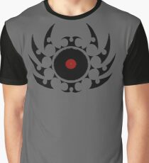 Retro Vinyl Records - Vinyl Tribal Spikes - Music DJ Graphic T-Shirt