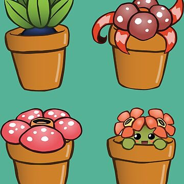 Poke-pot plants by Bowieisgod