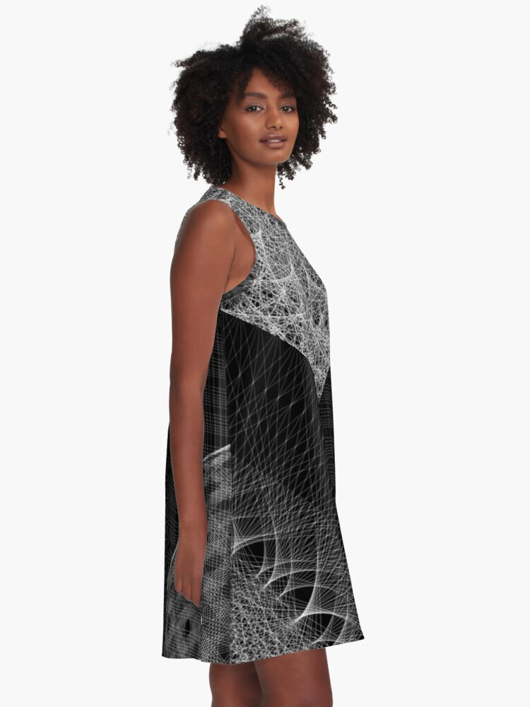 Alternate view of Contemporary Mandalas Track | Slow Down | Black hole A-Line Dress