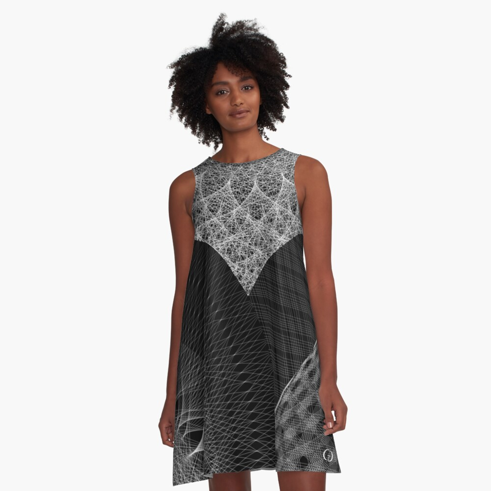 Contemporary Mandalas Track | Slow Down | Black hole A-Line Dress